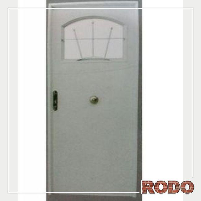PUERTA D/CH MOD123 C/H 1/4 REJA DER